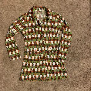 Vintage Style Un Deux Trois Shirt or Tunic Size S